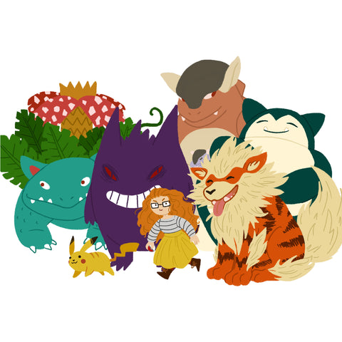 Custom Digital, Pokemon Trainer Dream Team Portrait