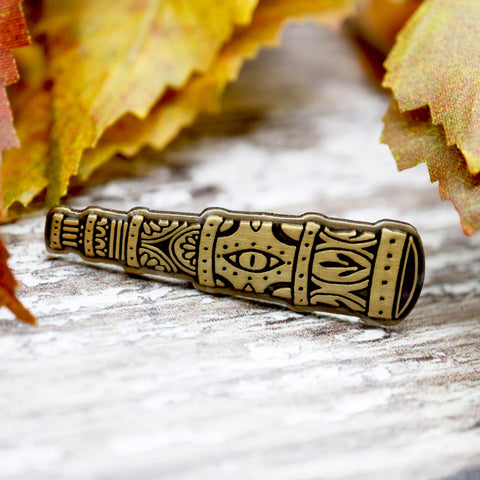 The Amber Spyglass, His Dark Materials inspired fan Enamel Pin