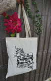 Abhorsen/Old Kingdom inspired Screen Printed tote bag
