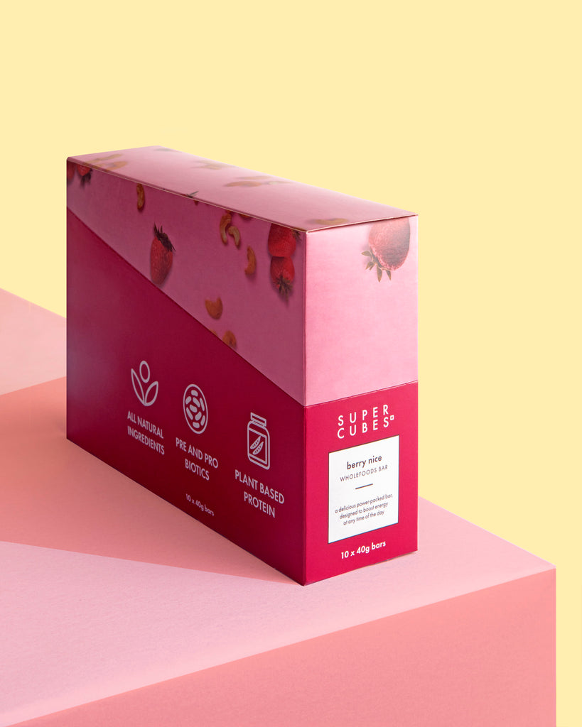 Buy a Box of the Berry Nice Wholefoods Bars by Super Cubes