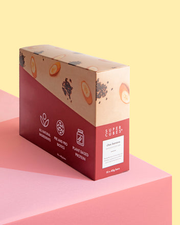 Buy a box of the Choc Banana Wholefoods Bars by Super Cubes