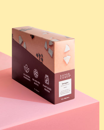 Buy a box of Lamington Wholefoods Bars by Super Cubes now