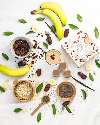 What ingredients do you use with your Choc Banana Smoothie Cubes in your smoothie recipes