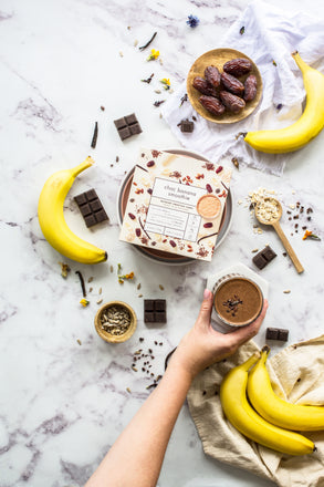 Can you add chocolate and bananas in a smoothie? You sure can!