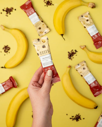 Chocolate and banana in a bar? Yes, the Choice Banana Wholefoods Bars by Super Cubes