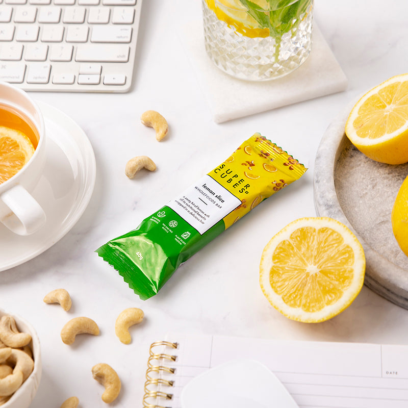 At work? Need a healthy snack? Lemon Slice Wholefoods Bars  by Super Cubes