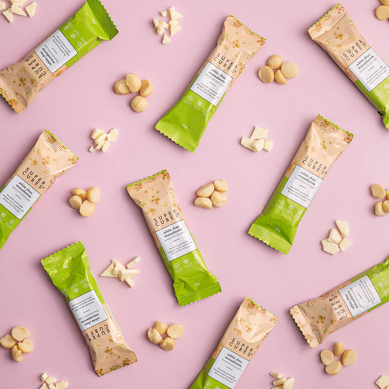 Healthy and nutritious, tasty and delicious, White Choc Macadamia Wholefoods Bars