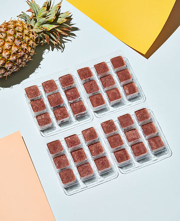 Frozen Berry Digest Smoothie Cubes in their trays
