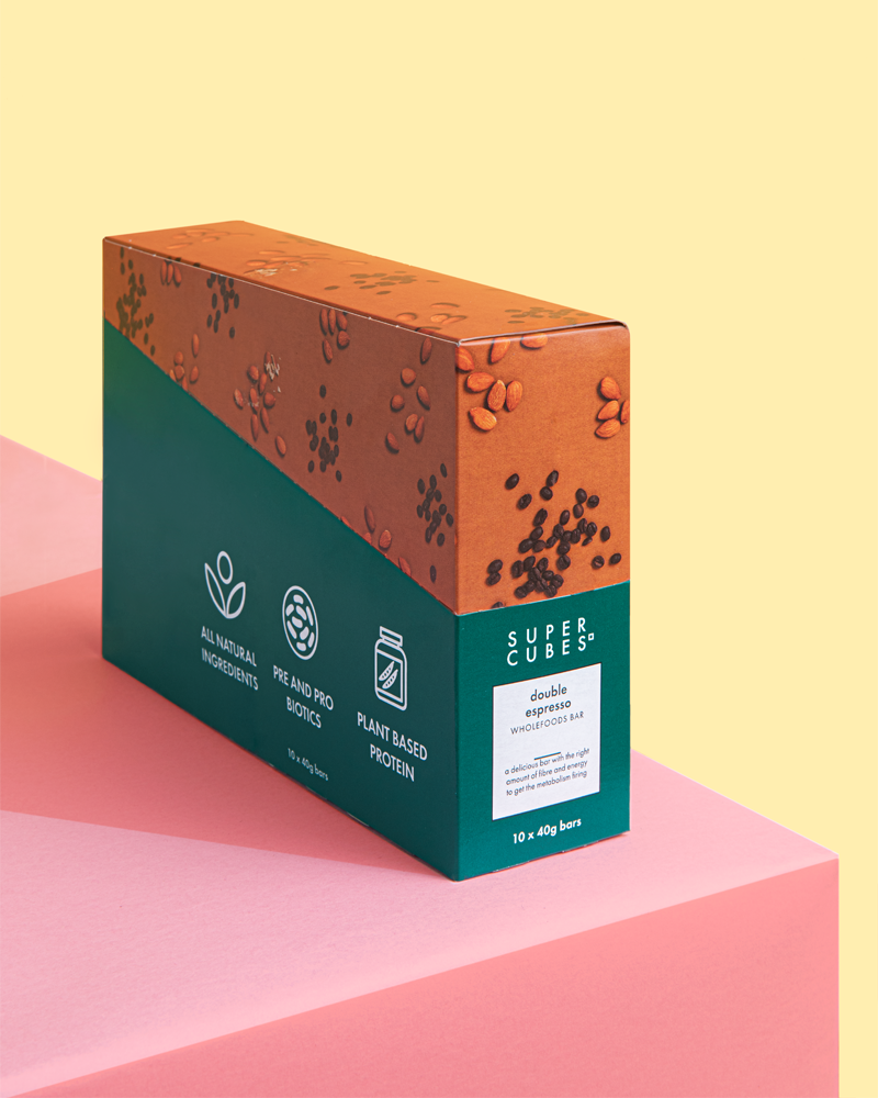Buy a box of Double Espresso Wholefoods Bars by Super Cubes