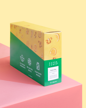 Buy a box of Lemon Slice Wholefoods Bars by Super Cubes now