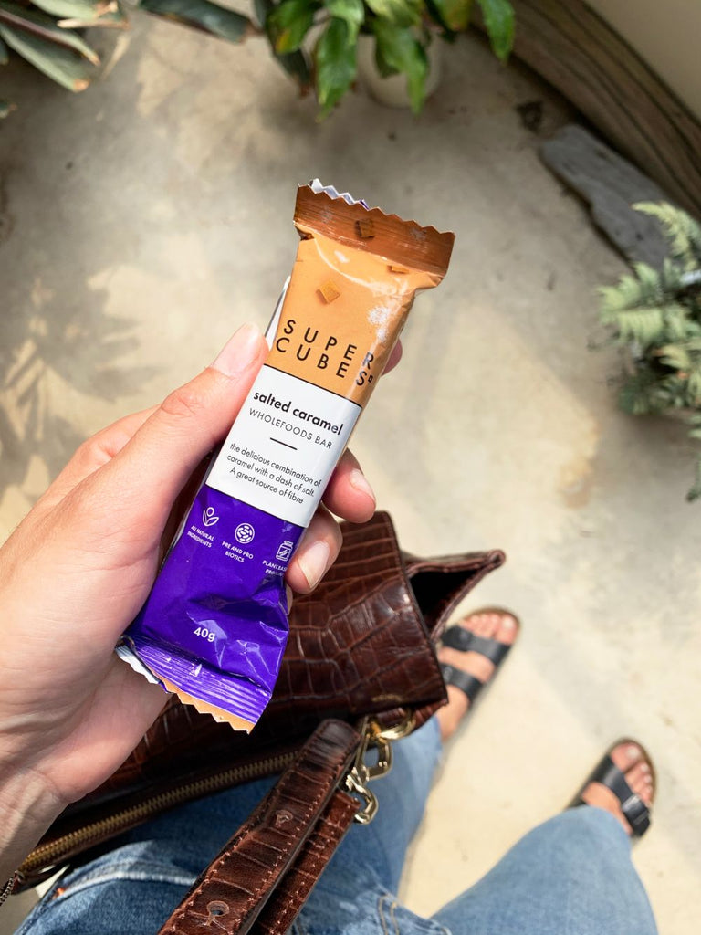 Convenient and healthy snack bar for you, Salted Caramel Wholefoods Bars by Super Cubes
