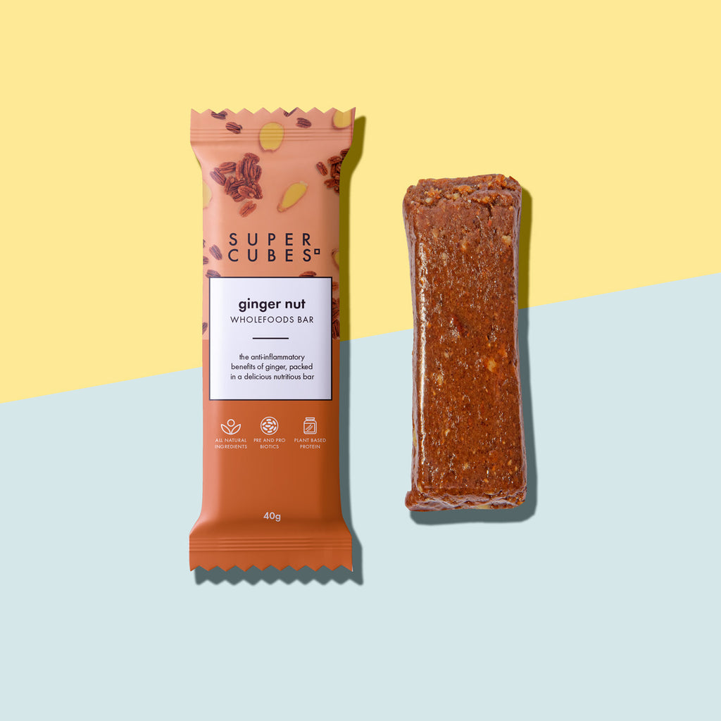 Buy the Ginger Nut Wholefoods Bars by Super Cubes