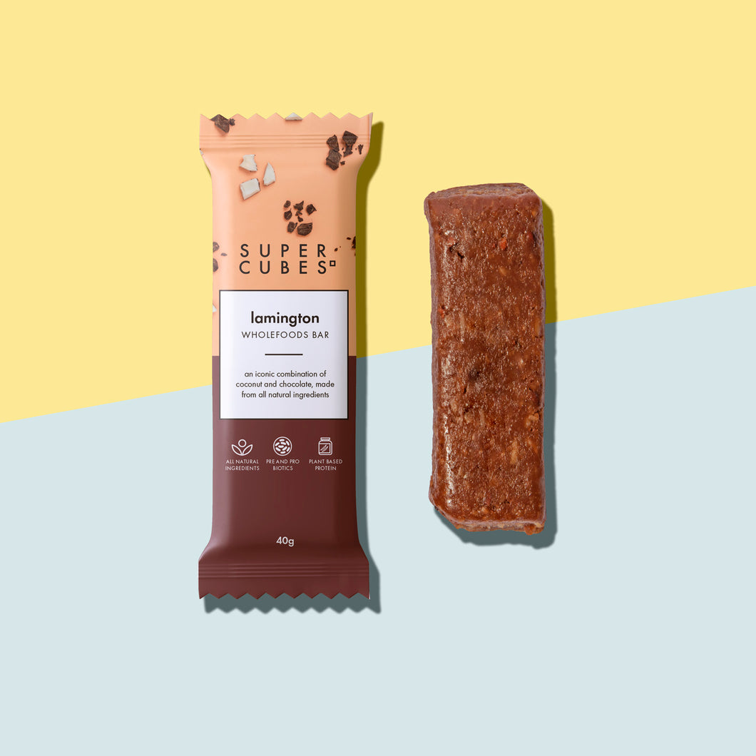 Buy Lamington Wholefoods Bars by Super Cubes now