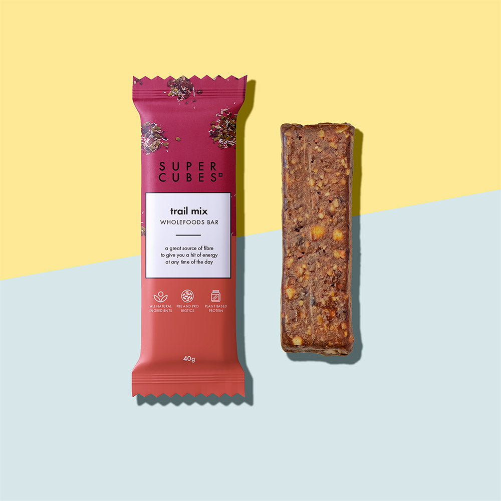 Buy Trail Mix Wholefoods Bars by Super Cubes now