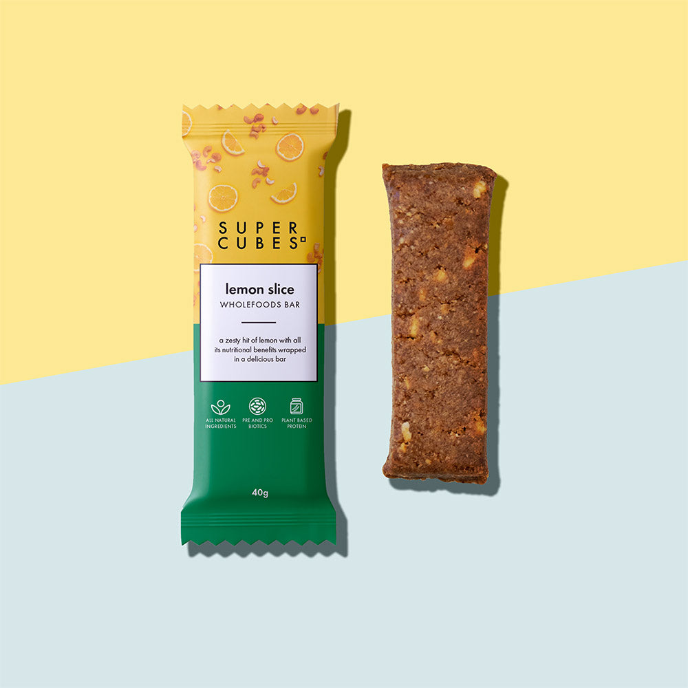 Buy Lemon Slice Wholefoods Bars by Super Cubes now