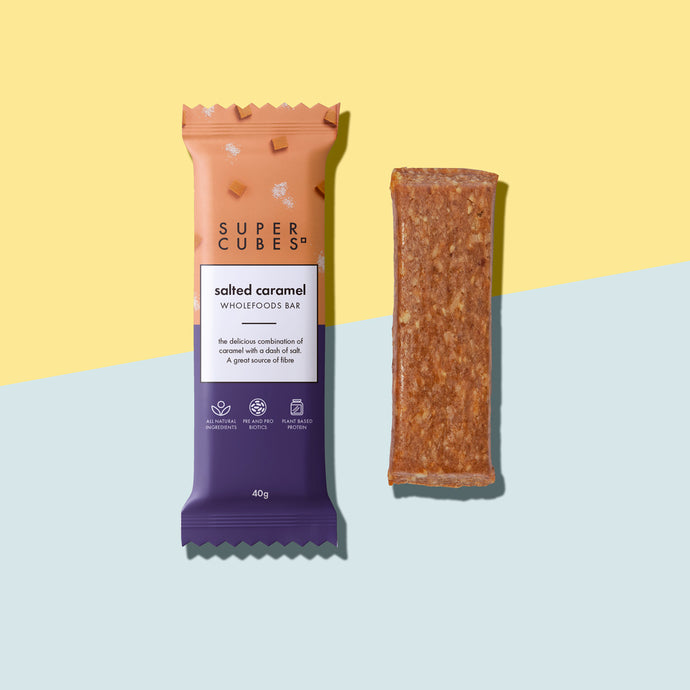 Buy Salted Caramel Wholefoods Bars by Super Cubes now