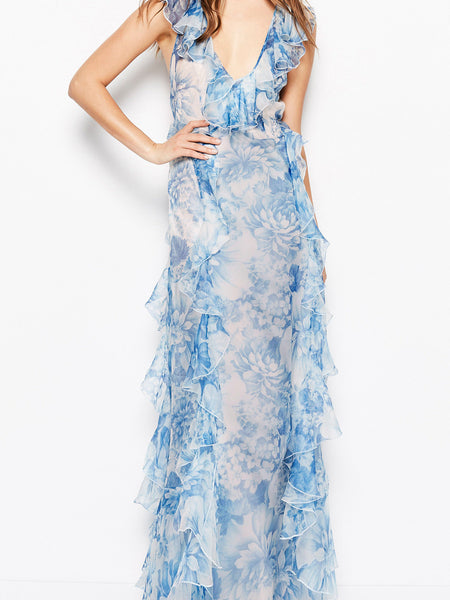 Alice Mccall Oh My Goodness Dress Ocean Blue Floral (For Hire)