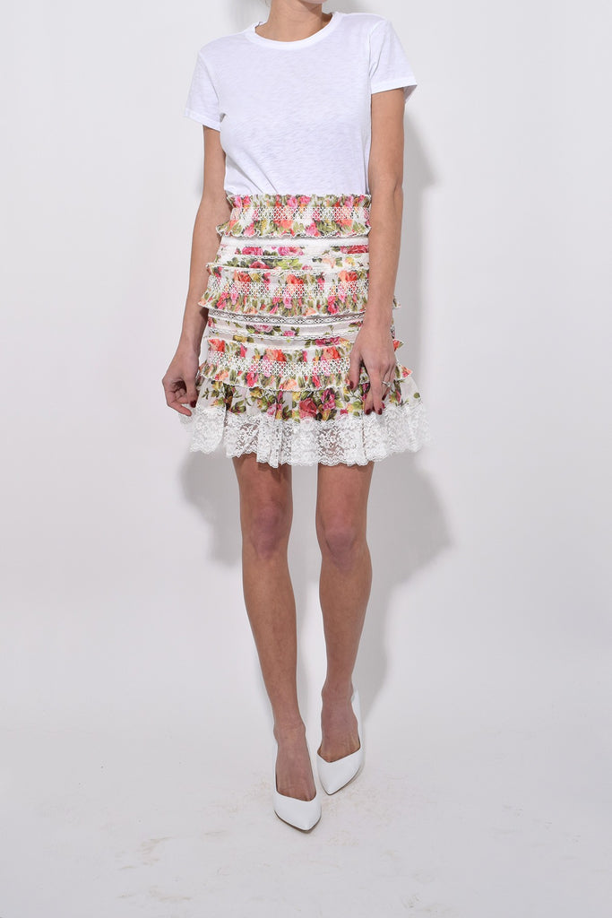 Zimmermann Radiate Smocked Skirt