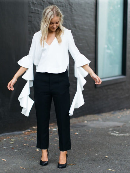 Ellery Humulis Wave Top In Ivory (For Hire)