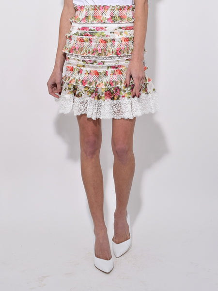 Zimmermann Radiate Smocked Skirt (For Hire)