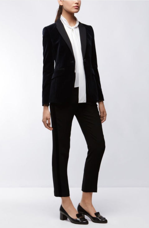 Hugo Boss French Navy Velvet Tuxedo Jacket and Pant Set  (For Hire)