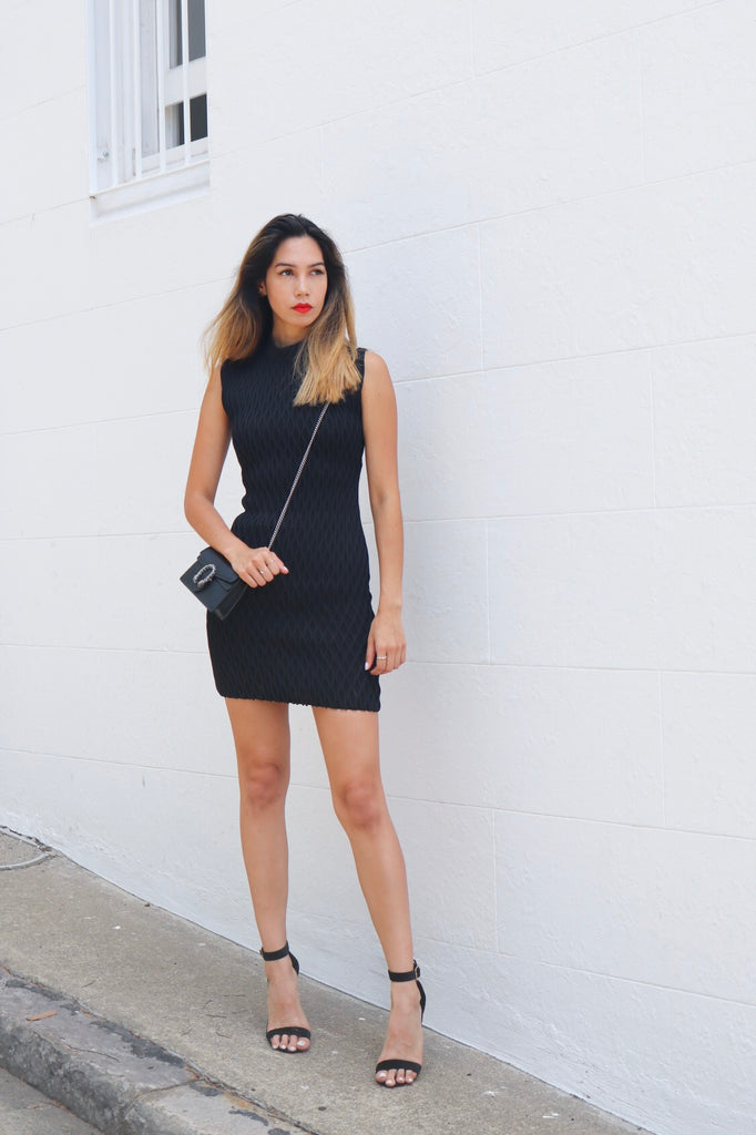 Balenciaga Black Fitted Dress (For Hire)
