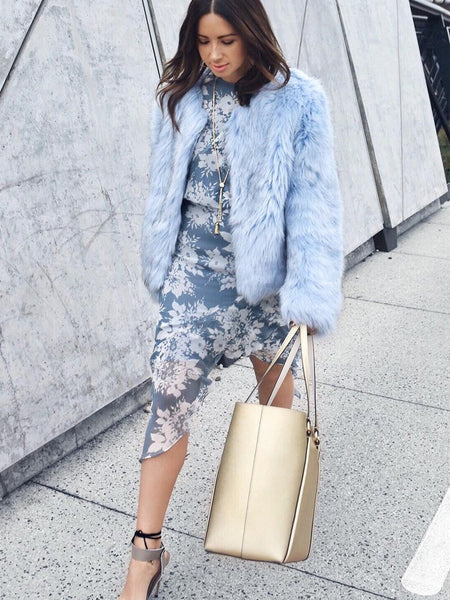 Unreal Fur Dream Jacket Pastel Blue
