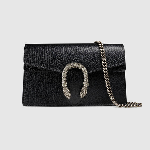 Gucci Dionysus Super Mini Clutch Bag Black (For Hire)