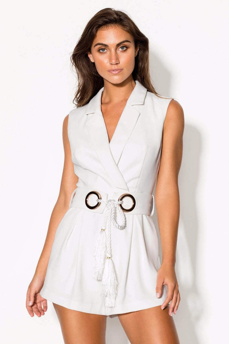 Tuxedo Playsuit (For Hire)