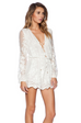 Zimmermann Essence Silk Veil Playsuit (For Hire)