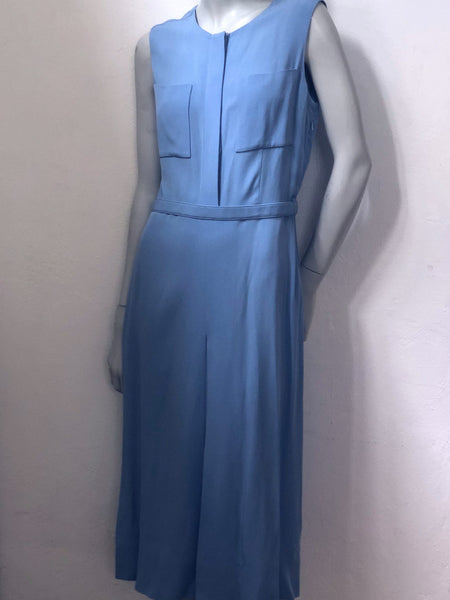 Victoria Beckham Powder Blue Crepe Dress