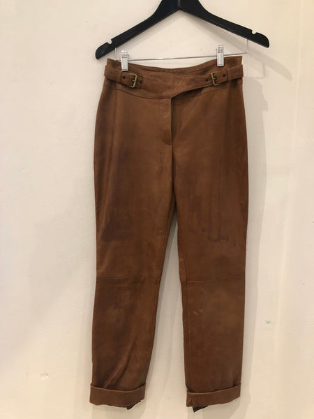 Celine Leather Pants