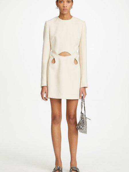 Dion Lee Marle Tie Mini Dress in Chalk  (For Hire)