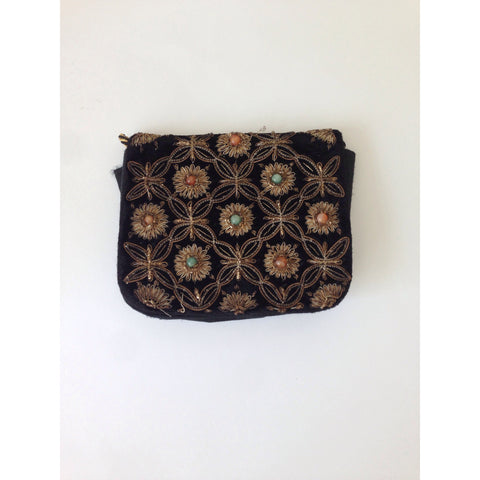 Vintage Embroidered Clutch Bag