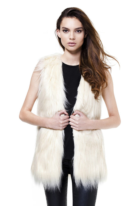 Unreal Fur Ivory Fur Play Vest