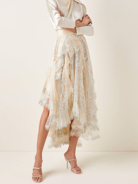 Zimmermann Sabotage Tiered Ruffle Skirt (For Hire)