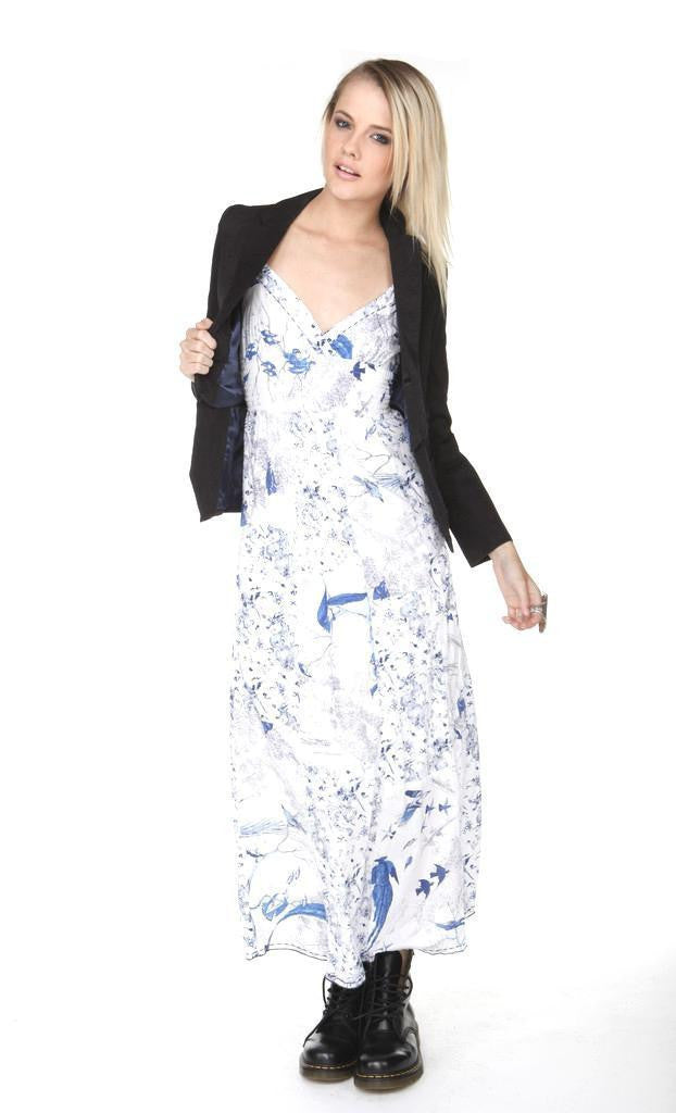 Cimmarron Bird Print Maxi Dress