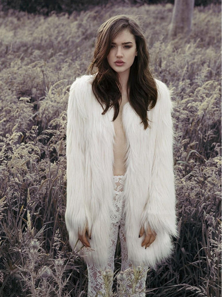 Unreal Fur Ivory Wanderlust Coat