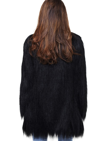 Unreal Fur Black Wanderlust Coat