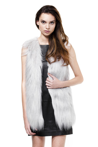 Unreal Fur Grey Fur Play Vest