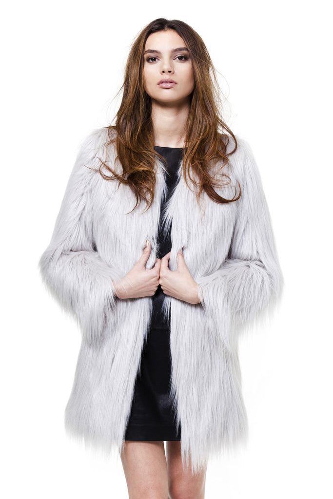 Unreal Fur Grey Wanderlust Coat