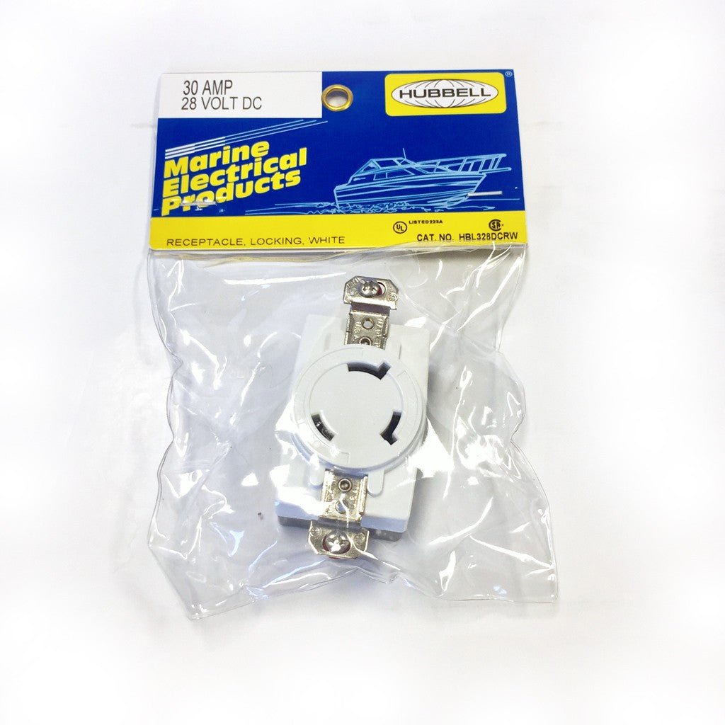 HUBBELL RECEPTACLE FOR THE SV-2400 (WHITE)