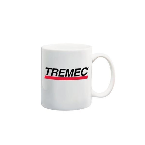 11oz White coffee mug with TREMEC logo on front