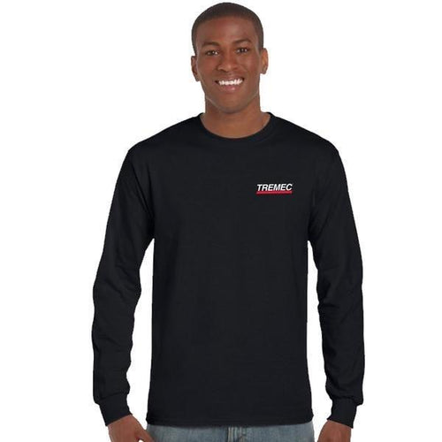Long Sleeve Black T-Shirt with TREMEC logo on left chest