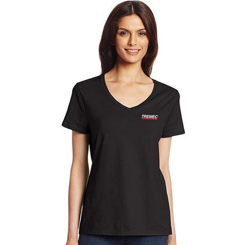 Ladies Nano Cotton Black T-Shirt with TREMEC logo on left chest