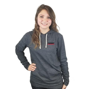 Unisex Tri-Blend Hoodie black with TREMEC logo on front