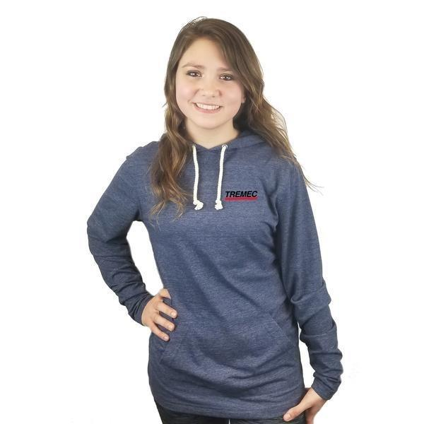 Unisex Tri-Blend Hoodie navy with TREMEC logo on front