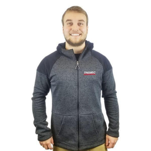 Cross Country Full Zip Hooded Jacket black with TREMEC logo on left chest
