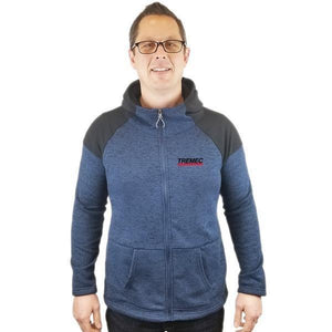 Cross Country Full Zip Hooded Jacket navy with TREMEC logo on left chest