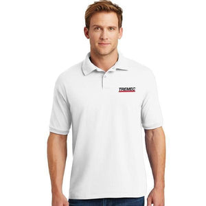 Men's Ecosmart Polo White with TREMEC logo on left chest